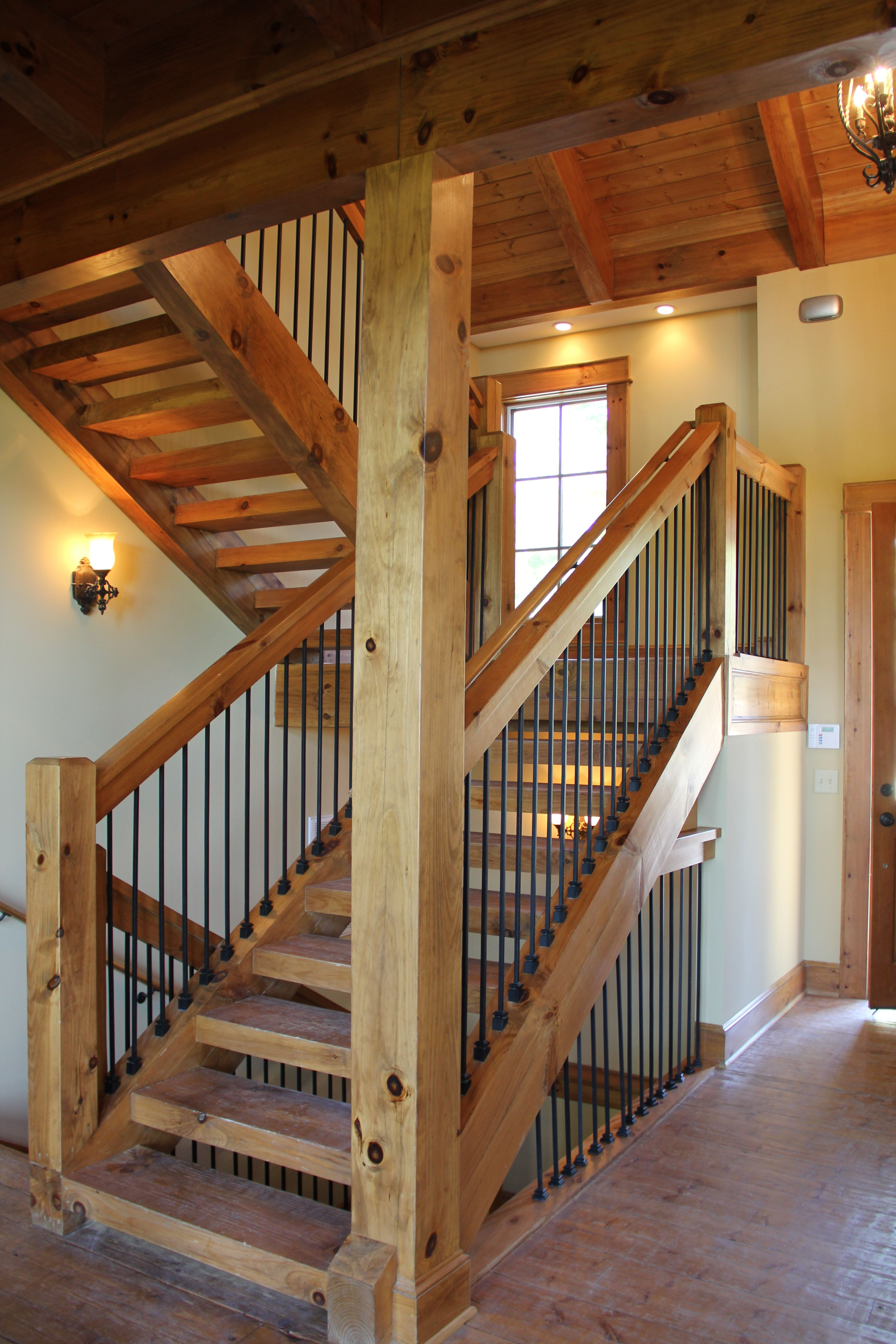 Slippery Wood Stairs Post And Beam Stairway | Vpc Projects | Pinterest