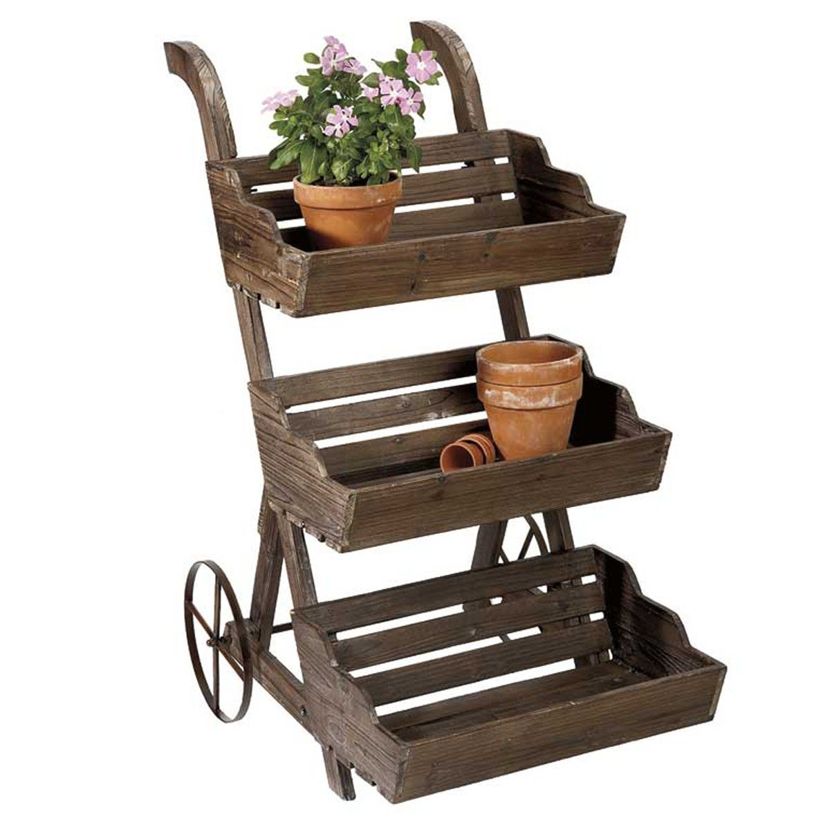 Big Plant Stand Create A Floating Garden With This Three Tiered Plant