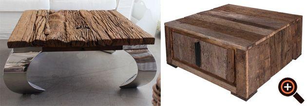 Designer Tisch u2013 Couchtisch fürs Wohnzimmer u2013 Holz, Glas \ Metall - designer tische holz metall