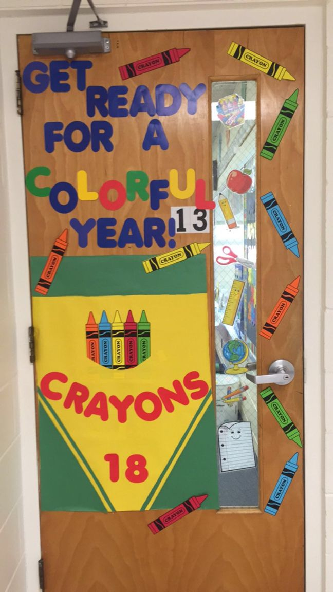 Love my door decoration!!! Get ready for a colorful year