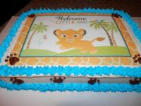 Babu Lion King Baby Shower Cake. Without all the blue ...