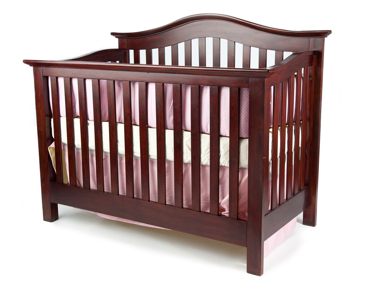 In White Coventry Lifetime Convertible Crib Nursery