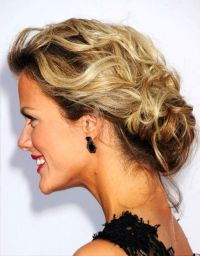 Low Curly Bun Updo 5 Messy Updo Hairstyle Idea39s For ...