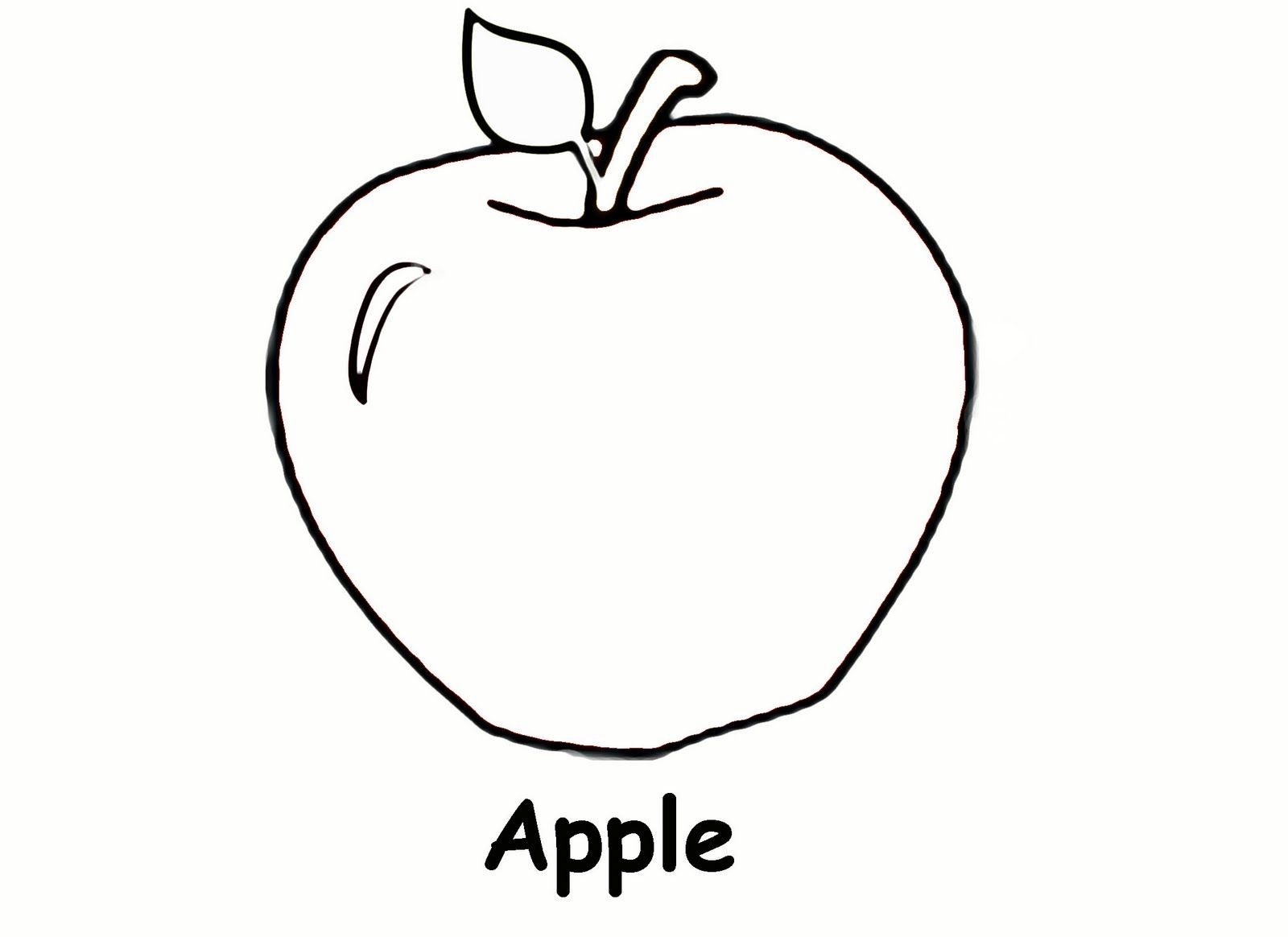 Free coloring pages for preschoolers - Preschool Apple Coloring Page Sketch Coloring Page Preschool Coloring Worksheets Free Printables
