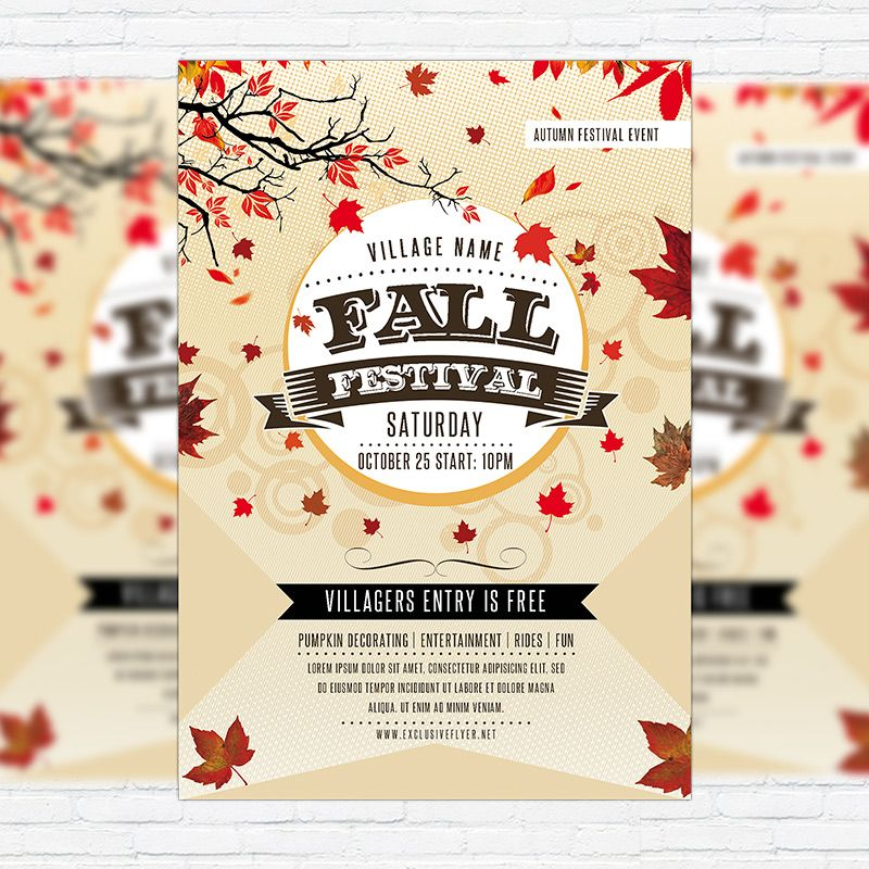 fall festival flyer templates free