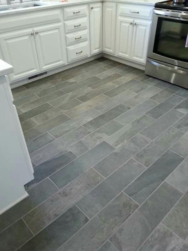 Ivetta Black Slate Porcelain tile from Lowes Things Iu0027ve done - kitchen tile flooring ideas