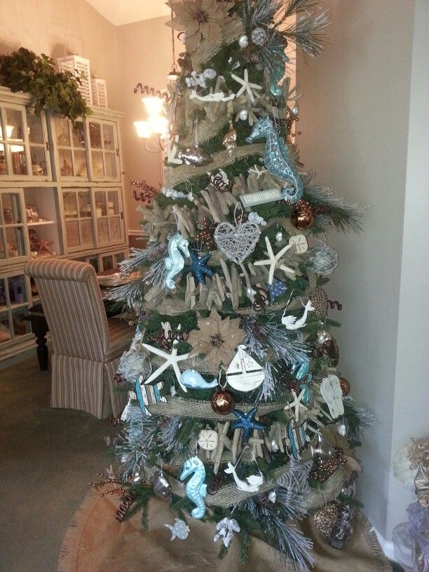 Beach Christmas Tree Decorations http\/\/wwwbeachblissdesigns - beach themed christmas decorations