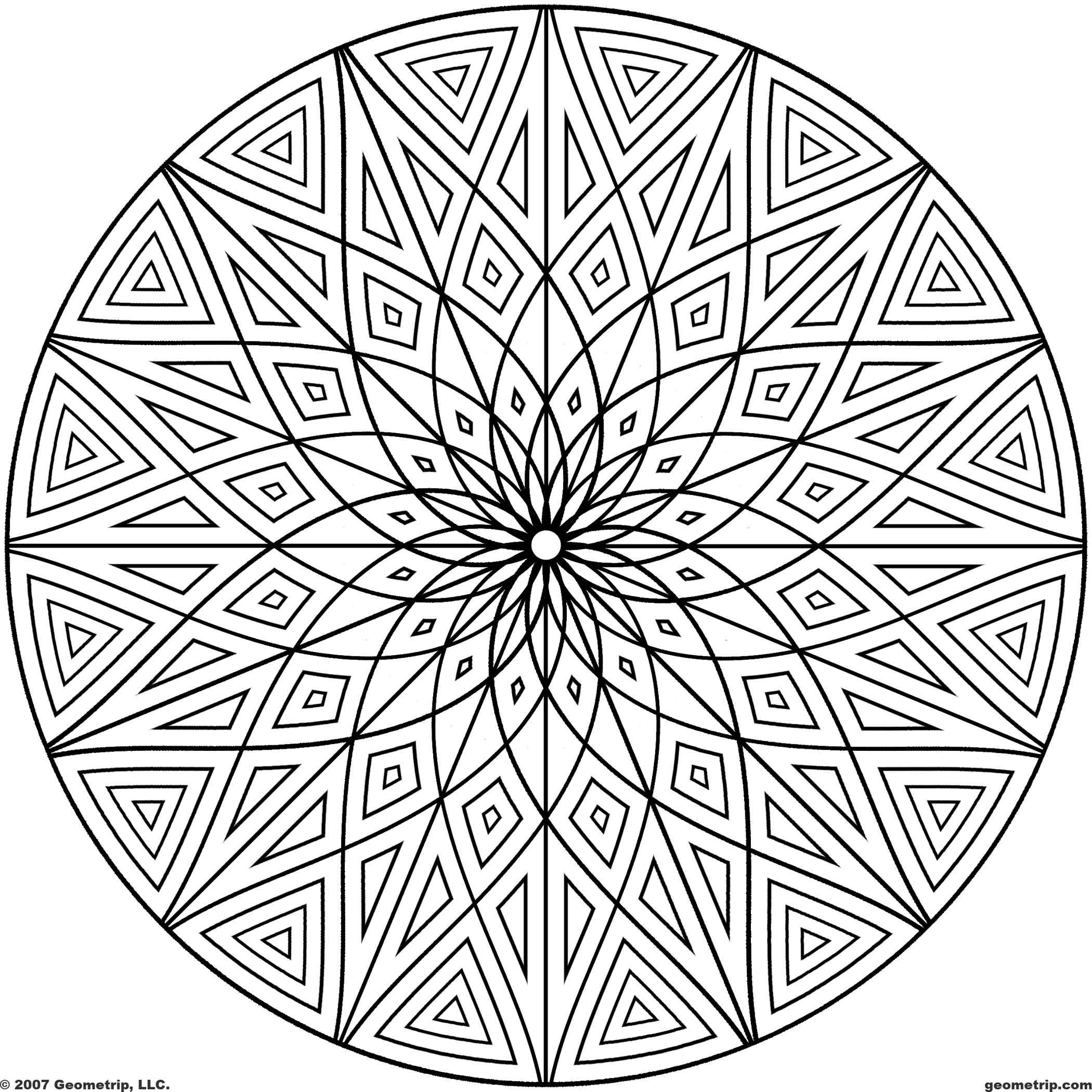 Printable geometric patterns geometrip com free geometric coloring designs circles