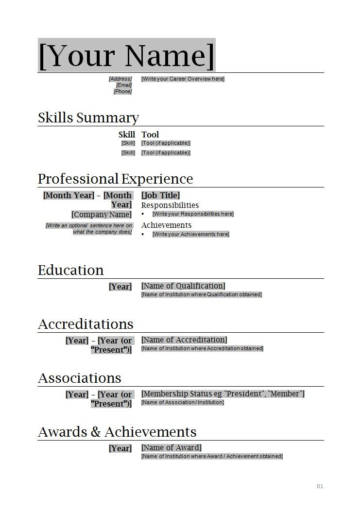 Formatting Resume In Word Free Resume Template For Microsoft Word - resume ms word format