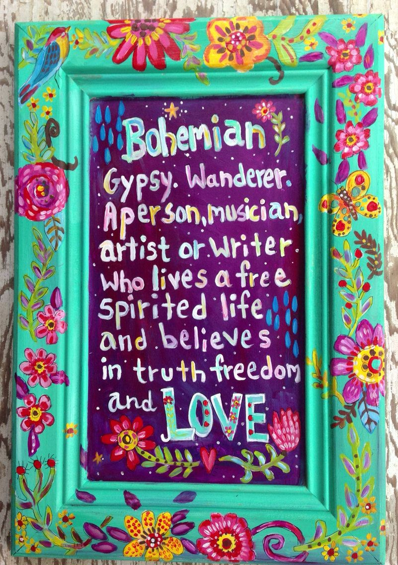 Bohemian Sign Wall Art Gypsy Style