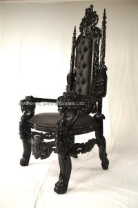 black goth chairs | BLACK GOTHIC LION THRONE CHAIR SEXY ...