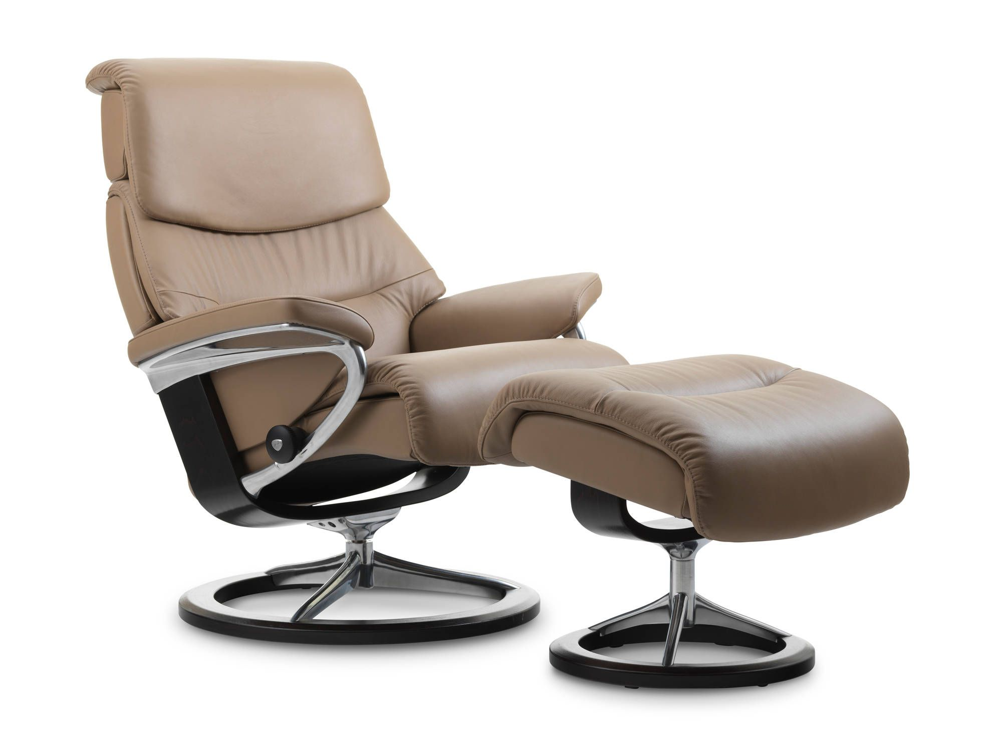 Stressless Sessel Stressless Capri Recliner In Paloma Leather Color Funghi