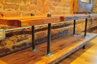 Rustic media console table. Made from reclaimed barn wood ...