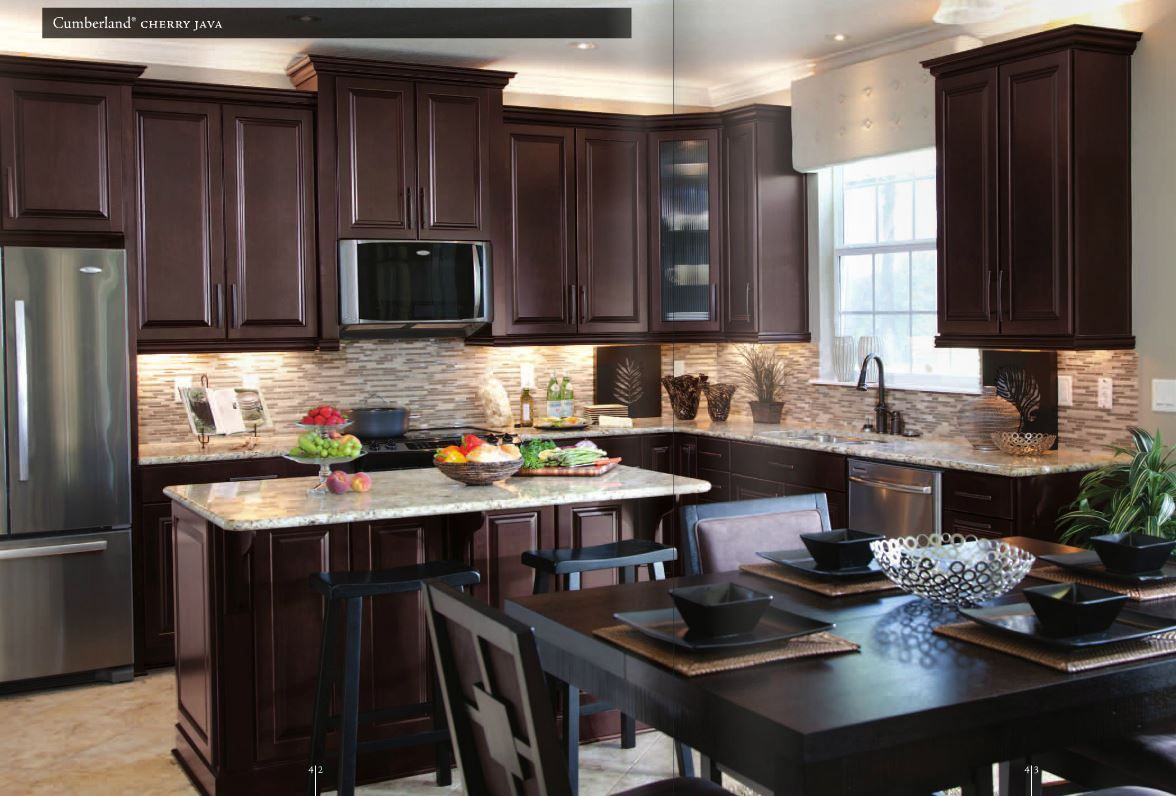 Modern Kitchen Dark Cabinets Modern Kitchen Design With St Cecilia Granite Countertops
