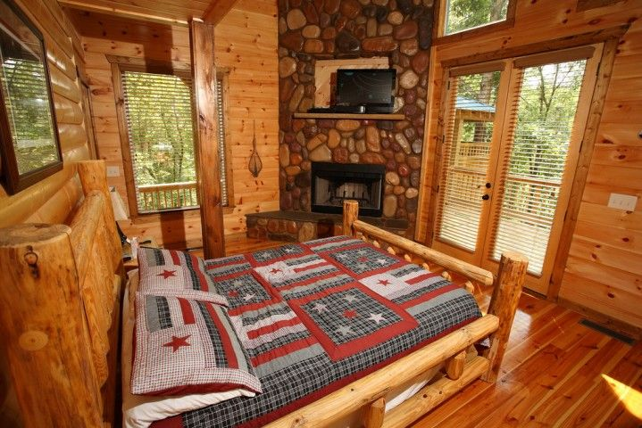 Cabin Bedroom Decorating Magnificent Cabin Bedroom Decorating - log home decorating ideas