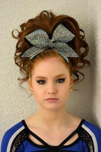 Teased Cheer Hair Curls Ponytail Braid | Cheer Makeup and ...