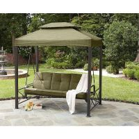 Details about Gazebo Outdoor 3 Person Swing Lawn Garden ...