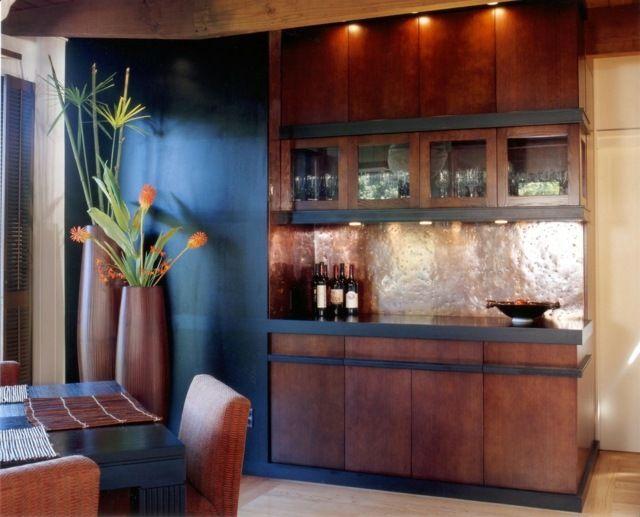 moderne Küche gestalten Metall Küchenrückwwand Küchenrückwand - moderne kuche gestalten