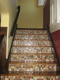 Tile and wood staircase | Julie's | Pinterest | Stairs ...