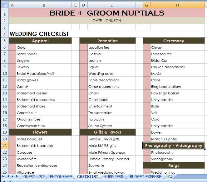 Wedding Planner Checklist Day-Of Wedding Schedule - Great Tips - wedding plan