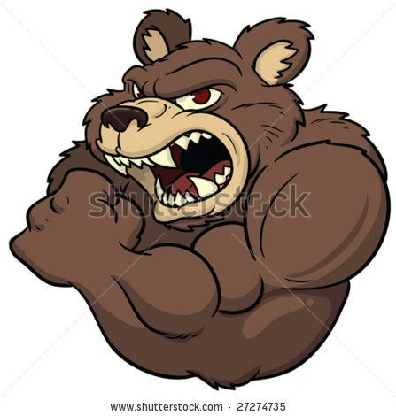 Famous Stars And Straps Wallpaper Iphone Angry Cartoon Bear By Memo Angeles Via Shutterstock