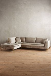 Slub Velvet Edlyn Left Sectional | Anthropologie