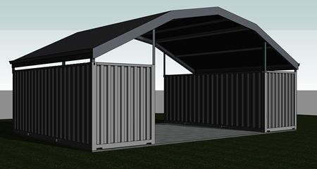 Shipping Container Roof idea which could work really well