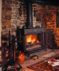 Fireplace, : Classy Country Rustic Living Room Design ...