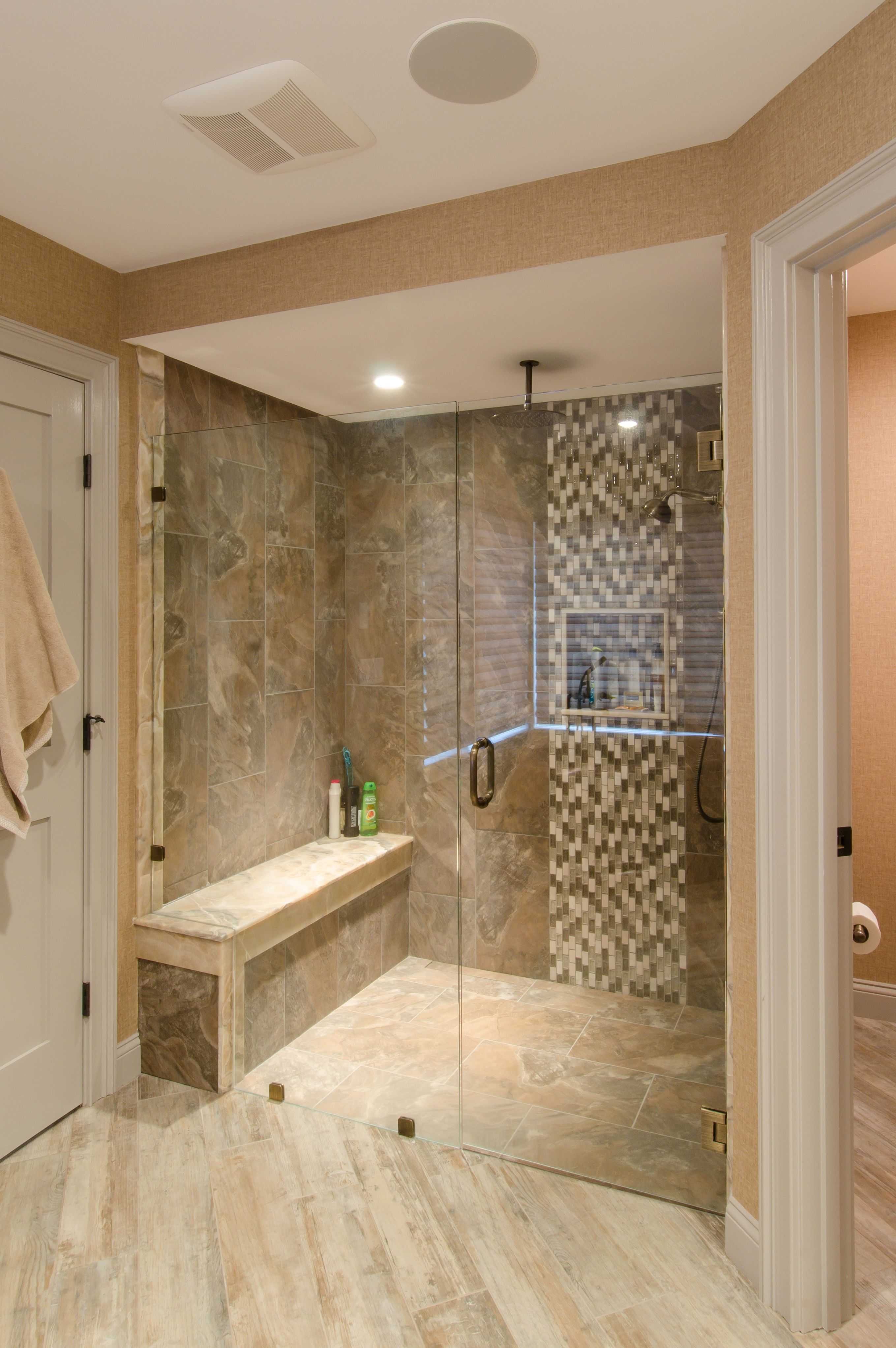 Shower Designs Pictures Shower Ideas Large Tile Shower With Custom Shower Seat