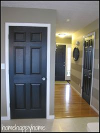 home happy home: Black painted interior doors | Paint ...
