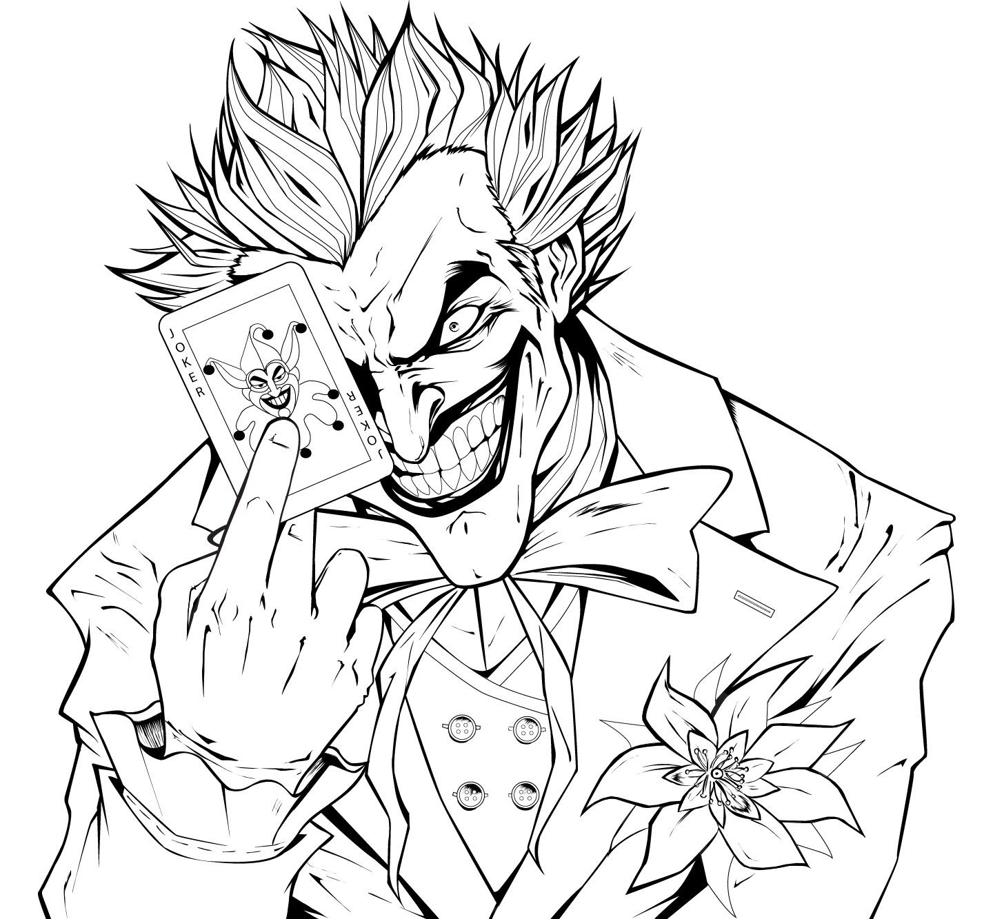 Joker coloring pages printable my image sense