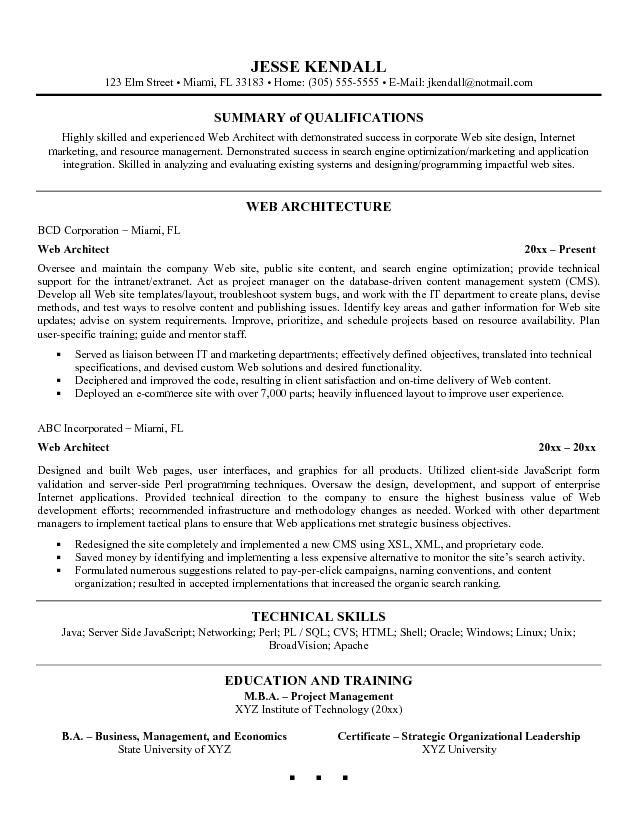 resume architect