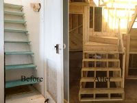 remodeling staircase ideas | ... and began deck framing ...