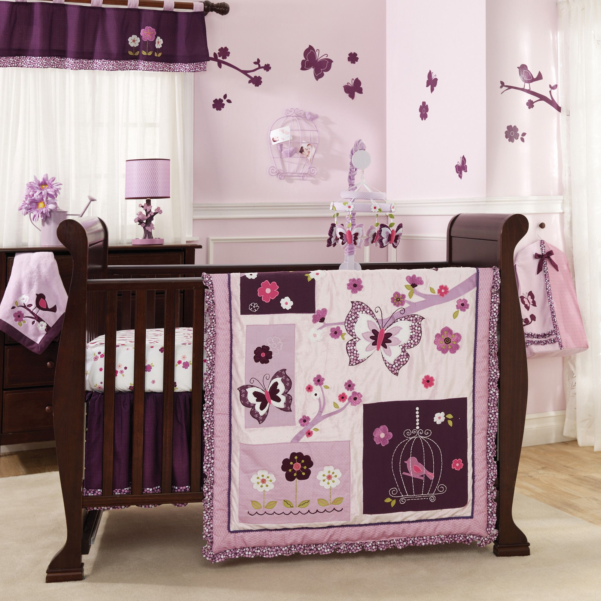 Plumberry baby crib bedding set by lambs ivy lambs ivy