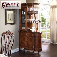 American style solid wood wine cabinet fashion corner ...