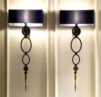 Wall Sconces - Matching black wall sconces with black ...