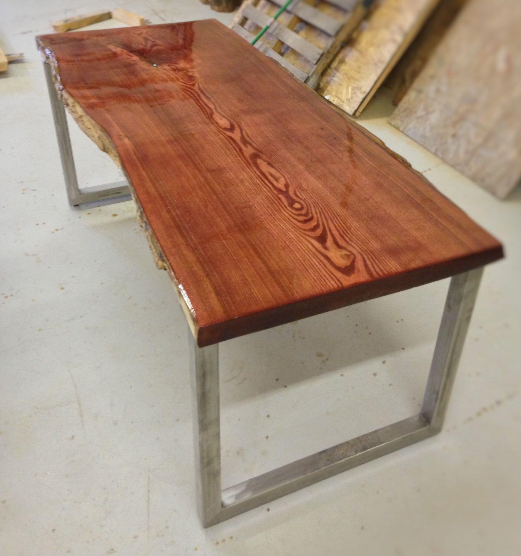 kitchen console table Live Edge Catalpa Wood Slab Kitchen Table Office Desk Console Table