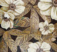Vetrol Golden Floral Mosaic Tile :: Sicis | Mosaic Arts ...