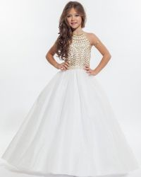 Wholesale White Halter Flower Girl Dresses 2016 Beautiful ...