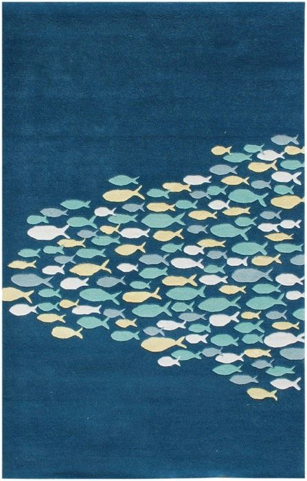 "Rug It Outdoor Teppich Beautiful ""school Of Fish"" Ocean And Beach-themed Rug"