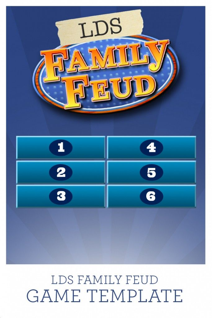 Gospel Game Night (Apostle\/Prophet trivia, LDS family feud - family feud power point template