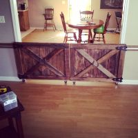 Custom made barn door rolling baby gates. | House Stuff ...
