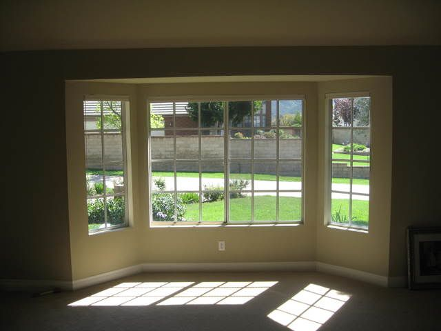 pictures of bay window inside and outside Any photos of Bay - living room windows