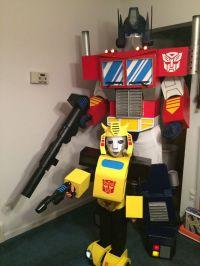 G1 Transformers - Bumblebee Costume | Cardboard costume ...