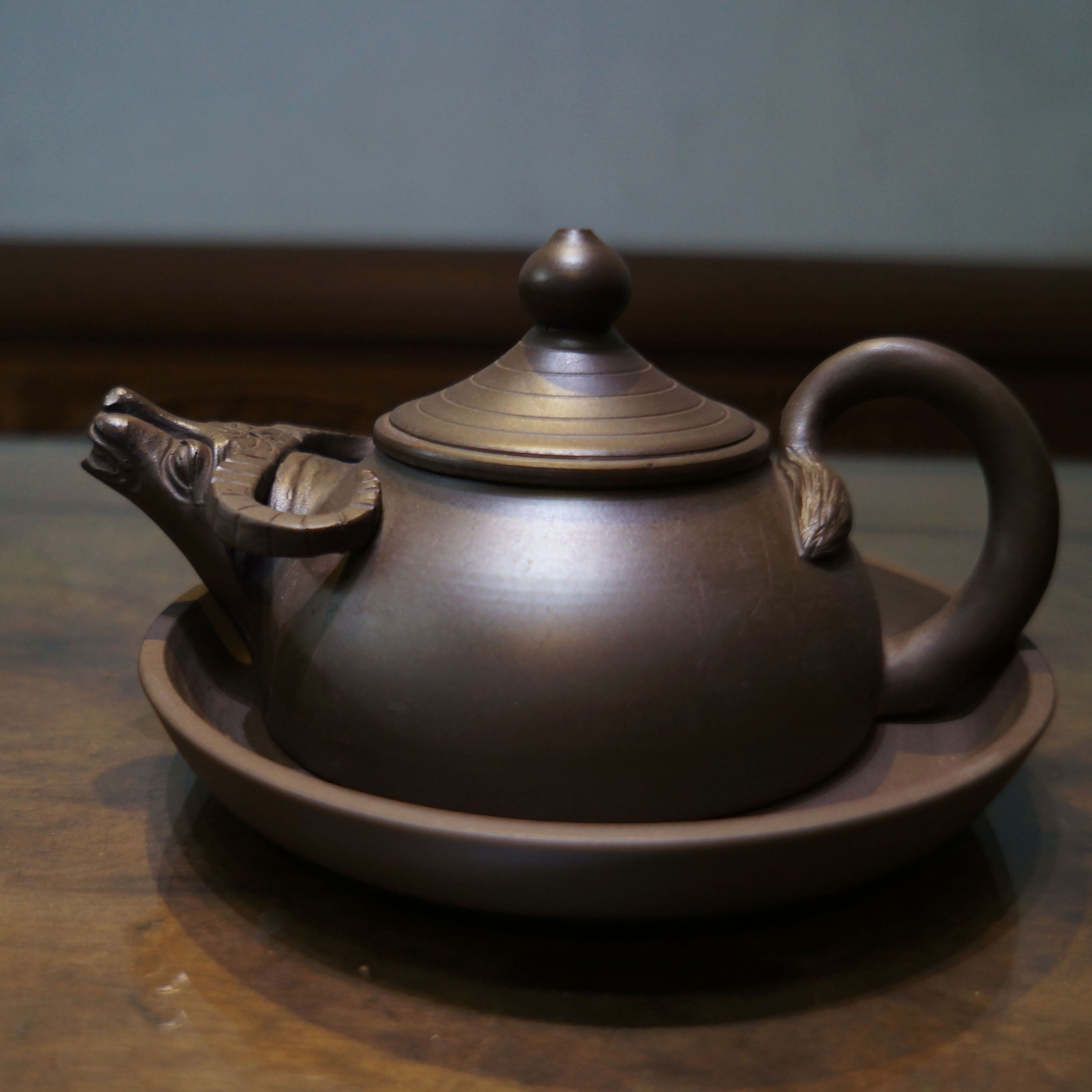 Making Tea In A Teapot Ấm Trà Trâu Vietnamese Hand Made Tea Pot Bat Trang