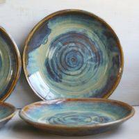 Ceramic Dinnerware Dishes Rustic Water Color Glaze ...
