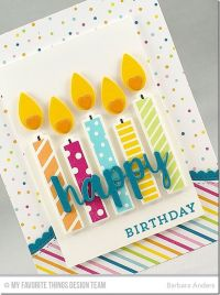 Birthday Card - I don't have these exact stamps or dies ...