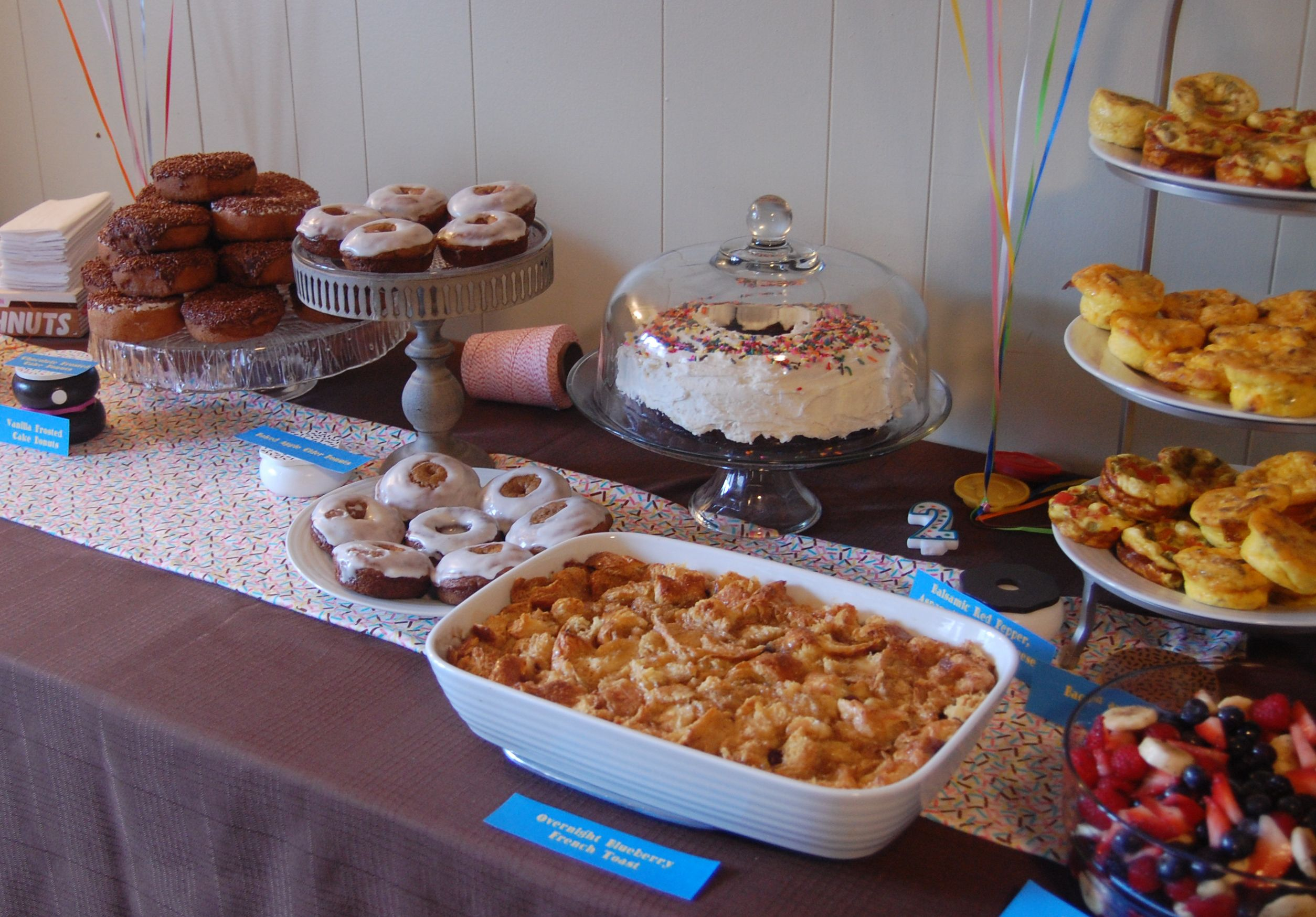 Buffet Party Donut Party Birthday Theme Breakfast Buffet French Toast