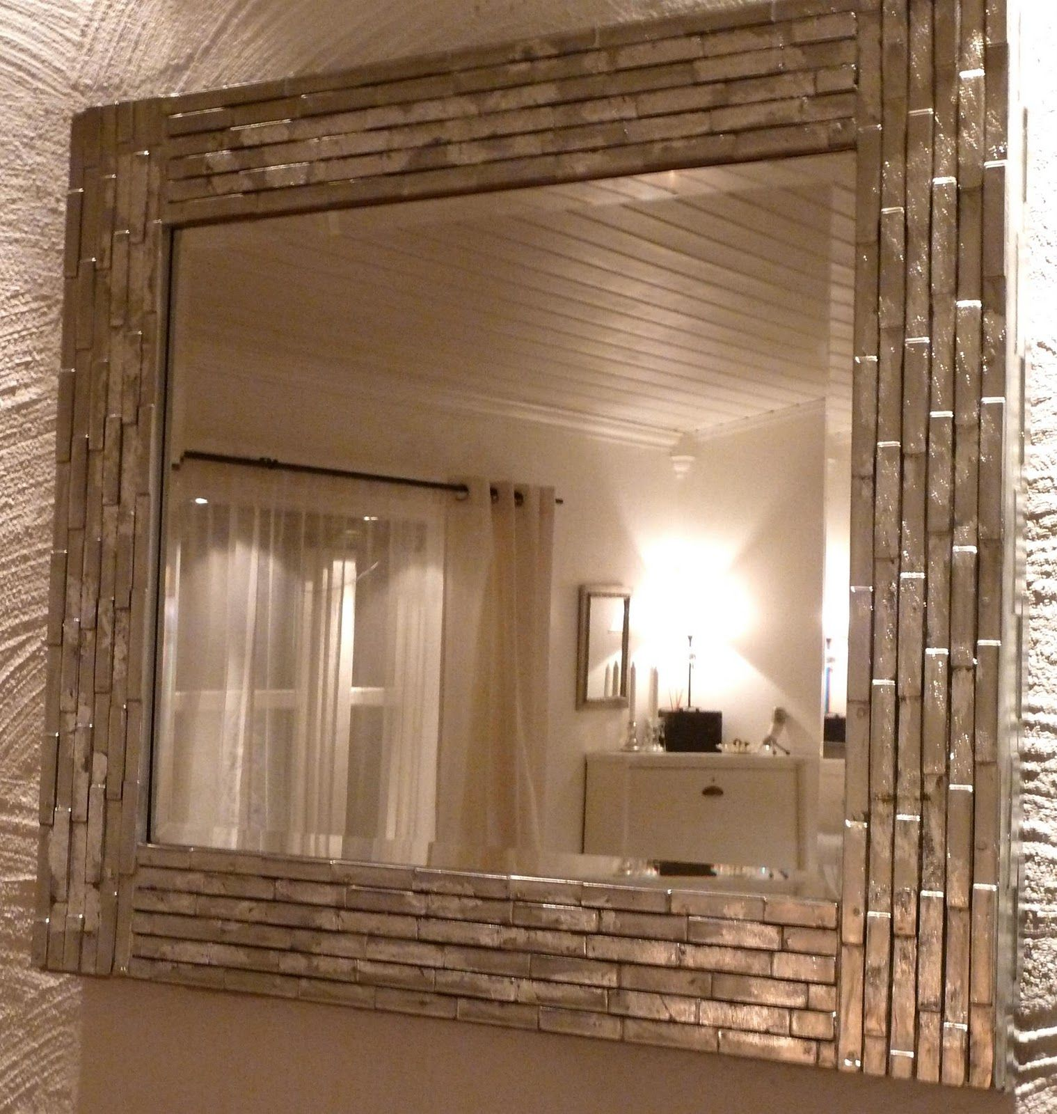 Diy Led Mirror Frame Diy Mirror I Like The Silver Finish Home Pinterest