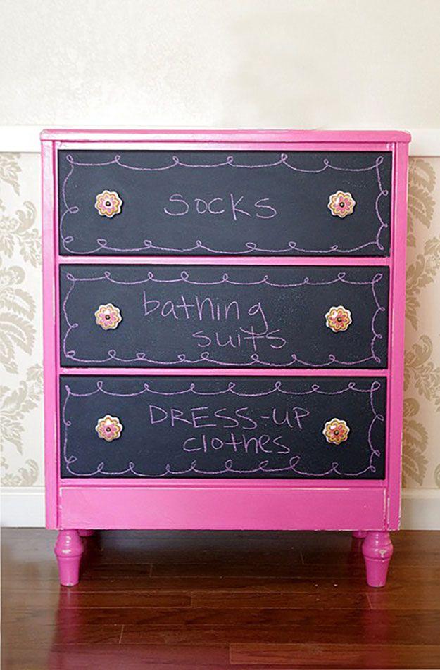 43 Most Awesome DIY Decor Ideas for Teen Girls Chalkboard - diy teen bedroom ideas